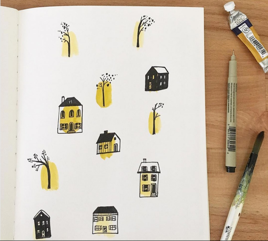 cute house illustrations