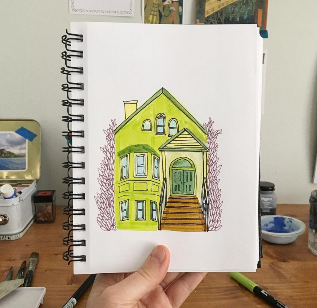 Colorful house illustration