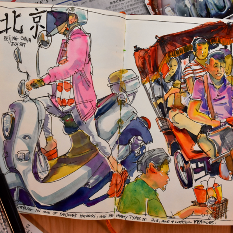 Sketchbook spread by David Terrill