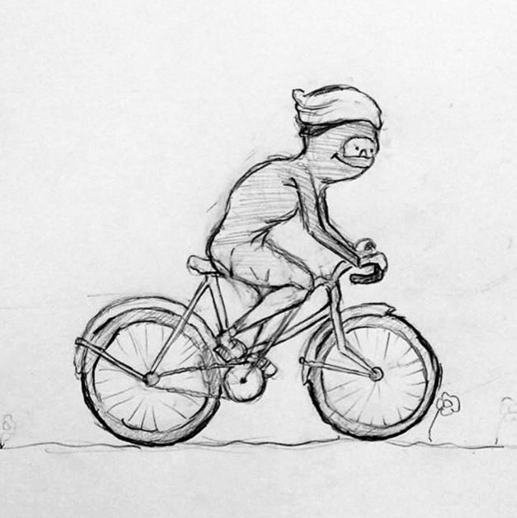 Girl On Bike Drawing By Noorah Kareem Doodle Addicts