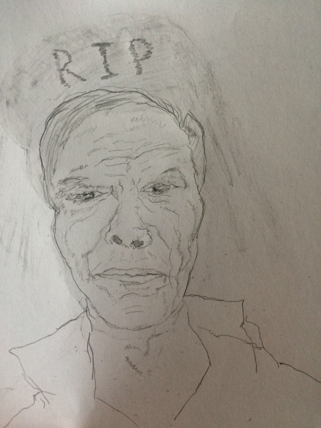 Self Portrait Of A Broken Down Old Man Drawing By Scott Ries Doodle Addicts