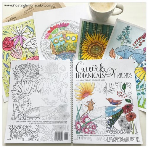 Quirky Botanicals and Friends Colouring Book