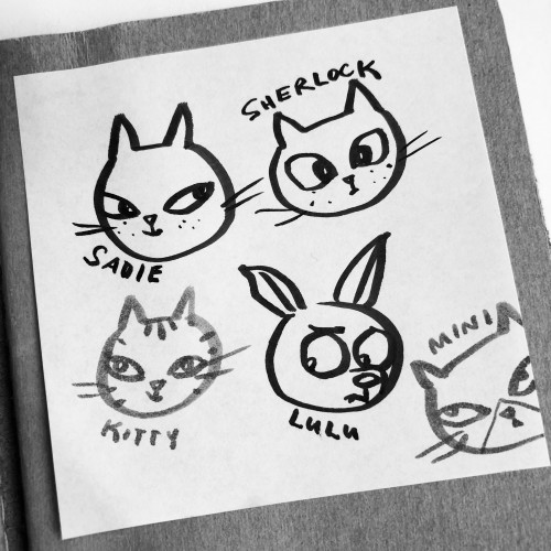 Post It Doodle Animals