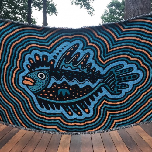 Woven Fish blanket