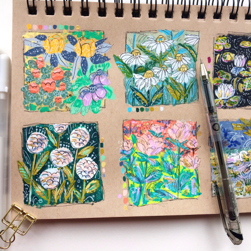 Flowers In My Sketchbook
