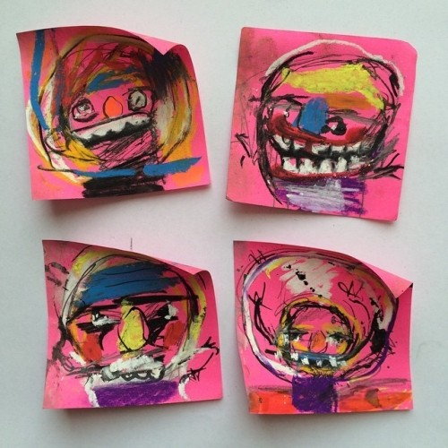Sticky Note Portraits