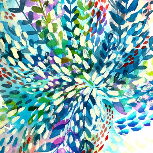 Color Explosion Watercolor Blue