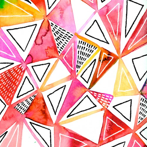 Watercolor Triangle Pattern