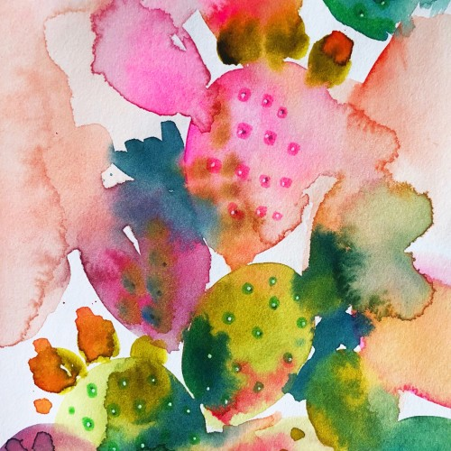Cactus Inspired Watercolor