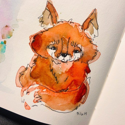 Watercolor Fox
