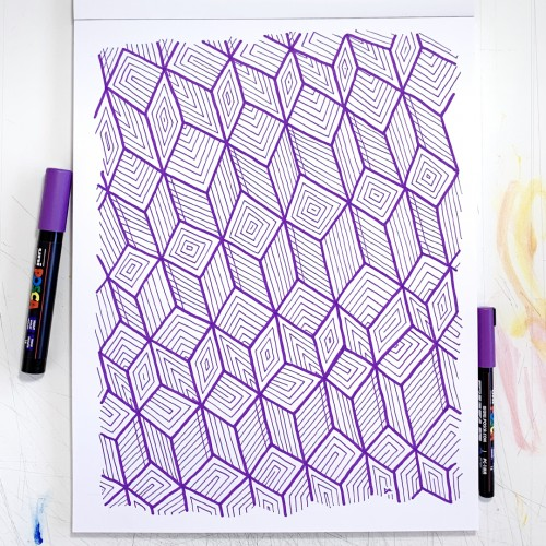 Pattern Study 27: Purple
