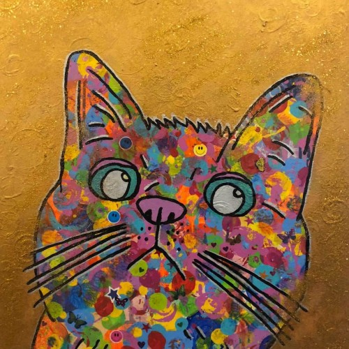 """Cosmic moggy"" by Barrie J Davies 2018"