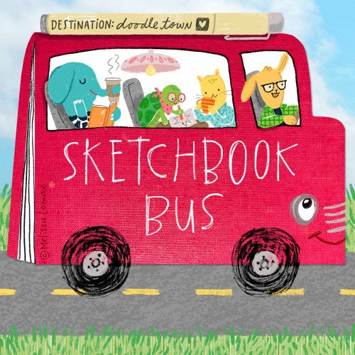 Doodle Caravan, Drawing Challenge ~ Sketchbook Bus!