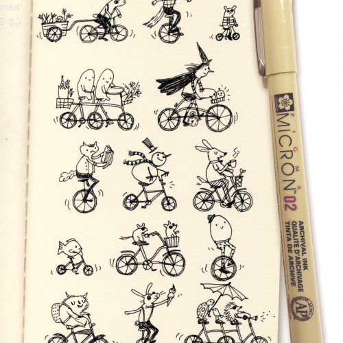 Bike Burg in Moleskine Sketchbook