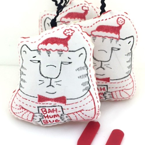 My Bah HumbugCat Ornaments on ETSY