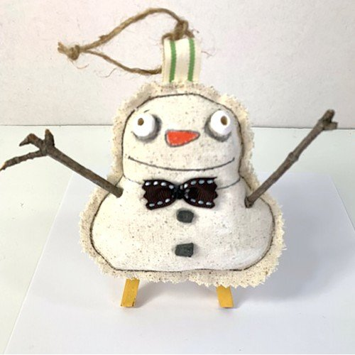 My Beserk Snowman Ornament (on ETSY-SuzanneUrbanArt)