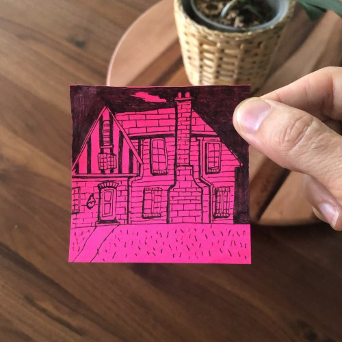 Post-it Note Brick House