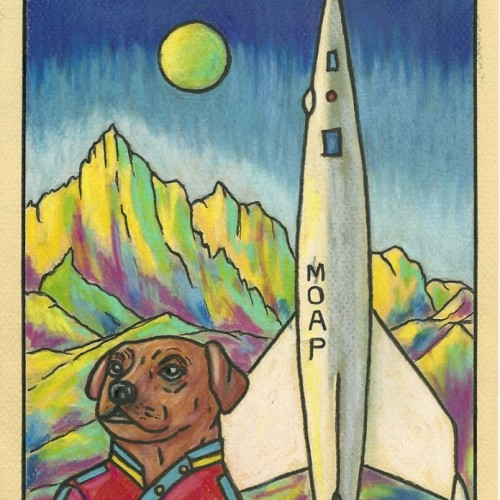 MAYA....The first dog to command a spaceship to Mars!