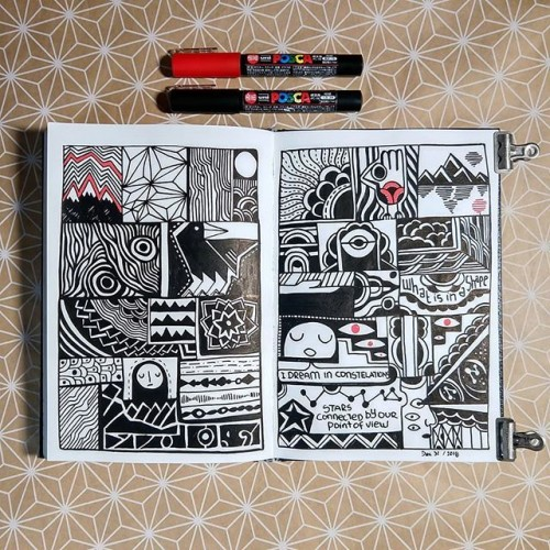 Abstract comics on my sketchbook
