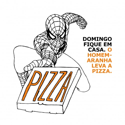 Spiderman brings the pizza