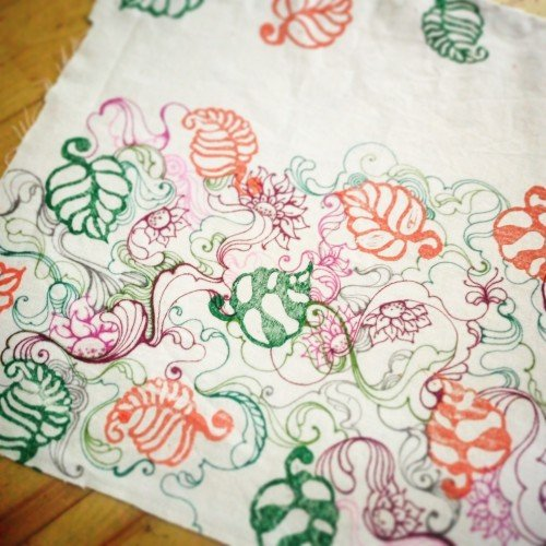 Doodles on fabric