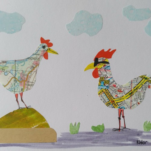 Countryside chicken meets city rooster