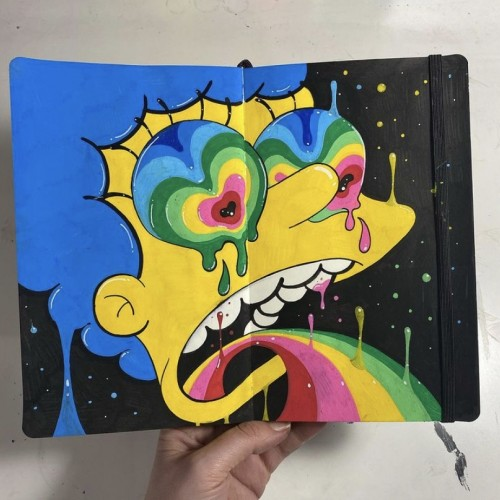 Trippy Marge Sketchbook page!