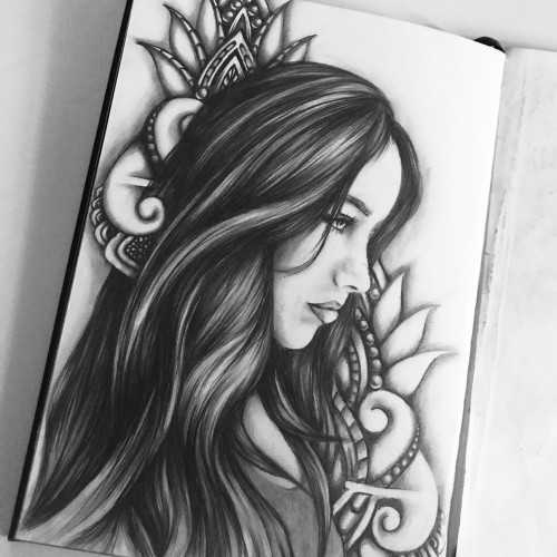 Girl with Mandala
