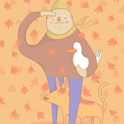 Fall Illustration (with your duck)