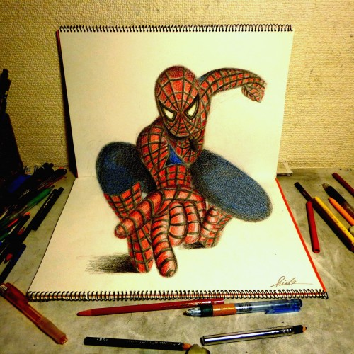 3D Drawing - Spiderman