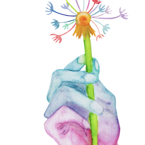 Make a Wish - Watercolor Illustration
