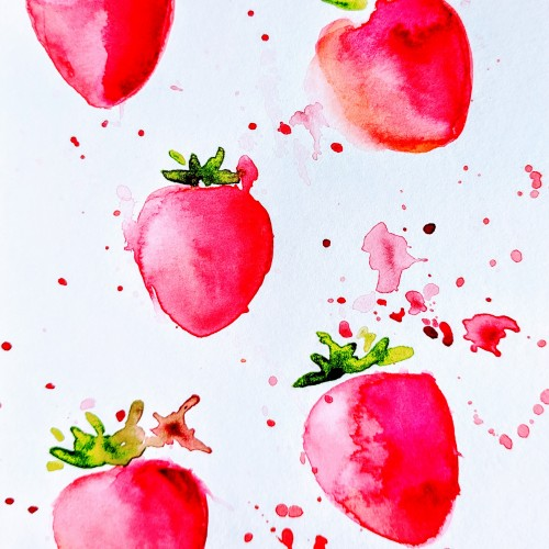 Watercolor Strawberry Fields Forever