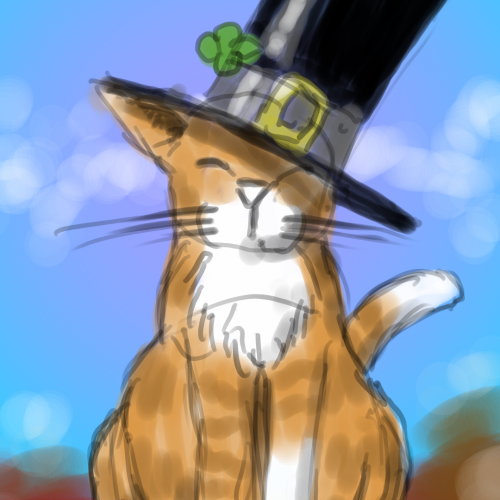 A cat with a hat