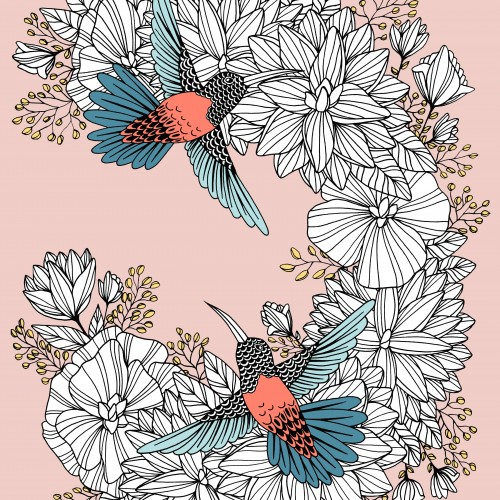 Floral Hummingbirds