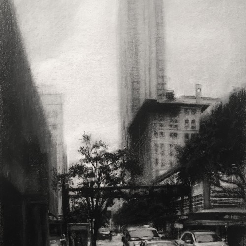 Downtown Miami in Charcoal