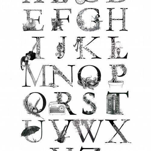 Illustrated Alphabet Letters