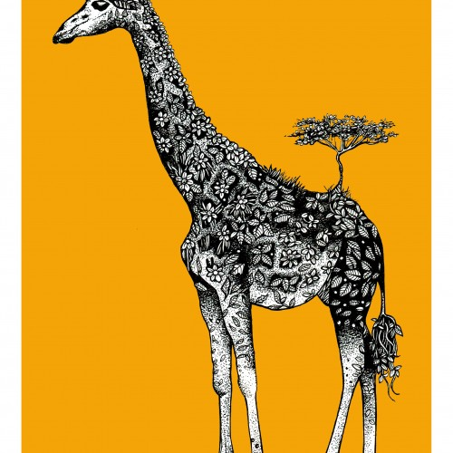 Illustrated Giraffe