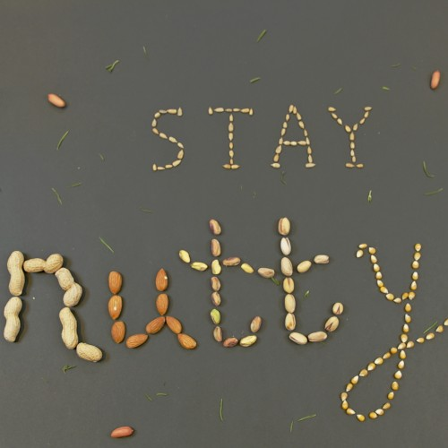 Stay Nutty Food Typography