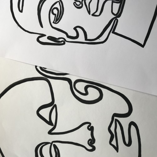 One Line paintings