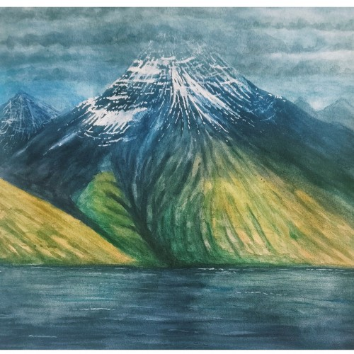 Watercolour mountains