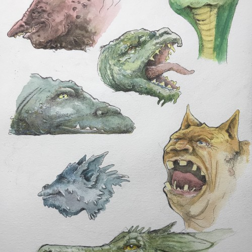 A page of dragons