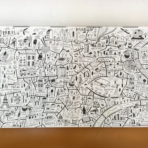 Illustrated Doodle Map of Paris