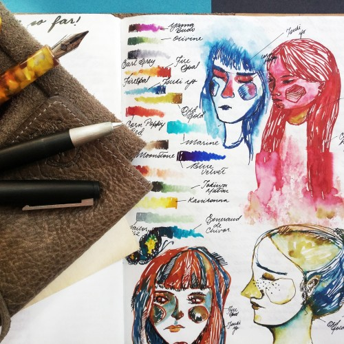 Doodle ink swatches