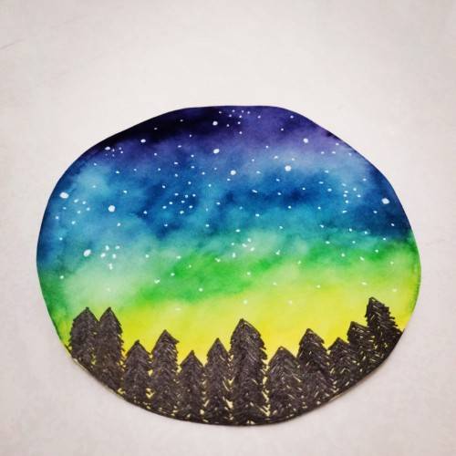 Forest Night Sky
