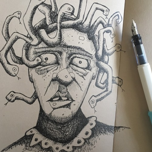 Frida as Medusa