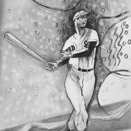Pencil Sketch of Ted Williams