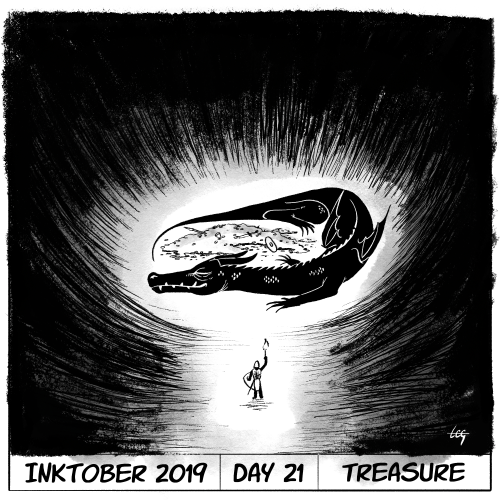 Inktober 2019 Day 21 - Treasure
