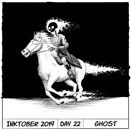 Inktober 2019 Day 22 - Ghost