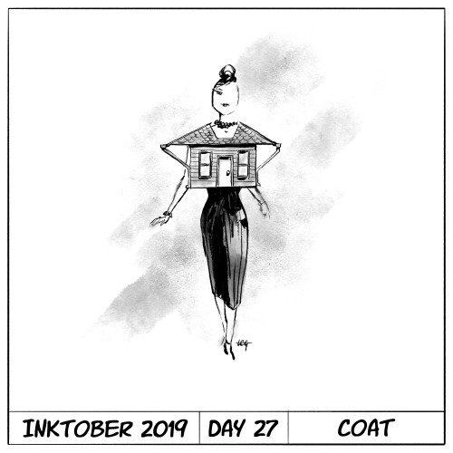 Inktober 2019 Day 27 - Coat