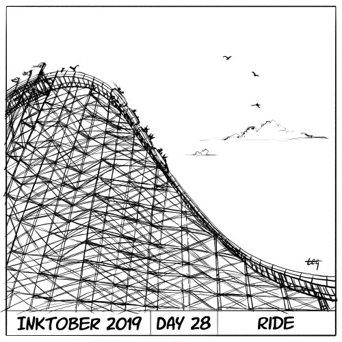 Inktober 2019 Day 28 - Ride